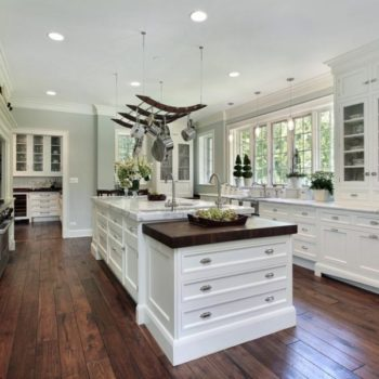 White Kitchen Cabinets - Lake Forest
