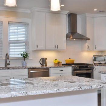 transitional kitchen - White Cabinets
